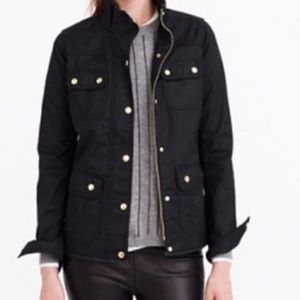 EUC J Crew black Downtown Field Jacket, medium